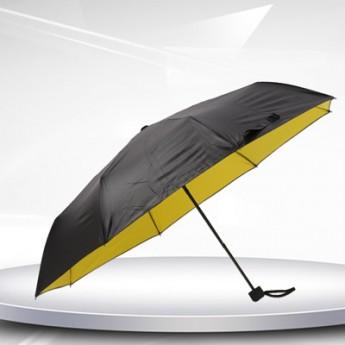 黑膠三折疊廣告傘