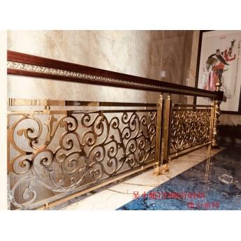 沅江大別墅歐式樓梯 全銅組裝樓梯扶手供應