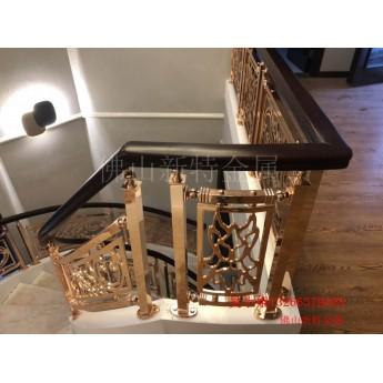 蕪湖酒店旋轉樓梯 鏤空歐式銅樓梯護欄太多款式