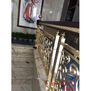 別墅整板銅樓梯效果 優質仿銅樓梯扶手使用更長久