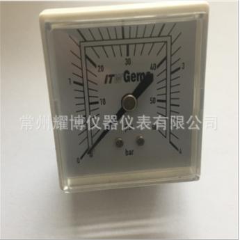50*50mm方形医用压力表/出口型白色医用表