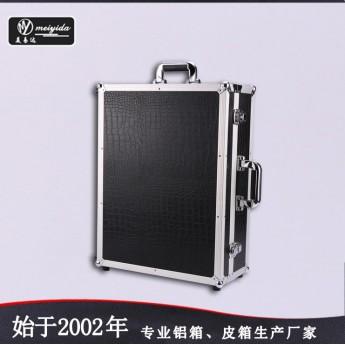 帶燈化妝箱支架手提鋁箱 可拆拉桿爆款化妝師批發