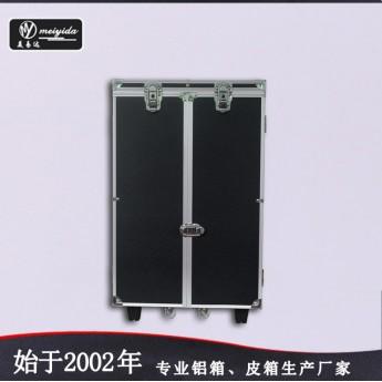 廠家直銷黑色皮拉桿飾品展示架萬向輪首飾箱批發