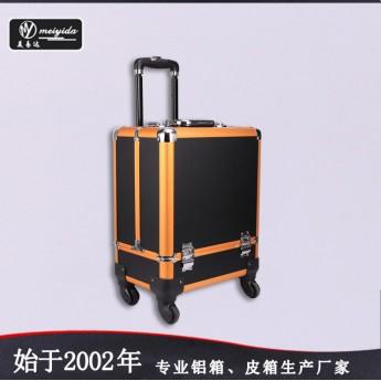 供應韓版多功能拉桿箱 雙開多層專業化妝箱多層大號