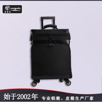 供應高檔PU皮化妝首飾箱手提堅固大容納多層托盤化妝箱