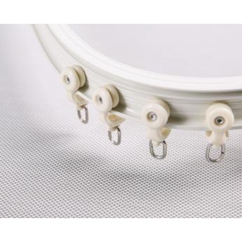優質鋁合金超靜音彎軌窗簾桿