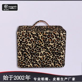 供应时尚pu化妆箱专业大容量手提箱便携旅行收纳箱