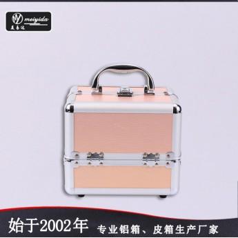 手提专业化妆箱多层大容量带锁箱子便携收纳盒