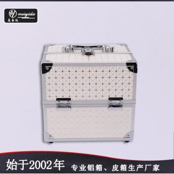 源頭產地手提化妝箱白色簡約風收納箱大容量跟妝廠家定做