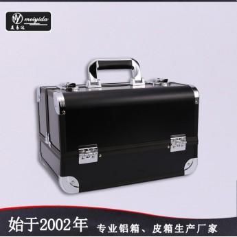 供应大容量手提式双开化妆箱多功能铝箱