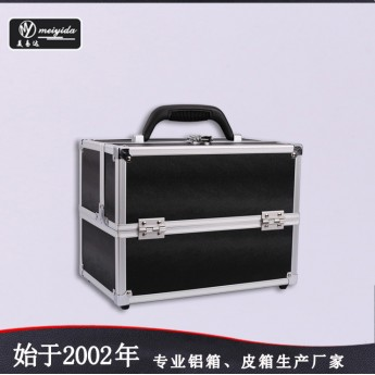 供应多层手提化妆箱双开大号收纳专业工具箱