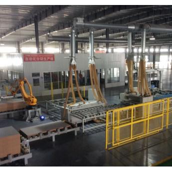 多层复合PVC实木强化平压地板多片锯