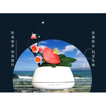 會員特惠幻寶花飾香薰燈創意擺件臥室香薰加濕器