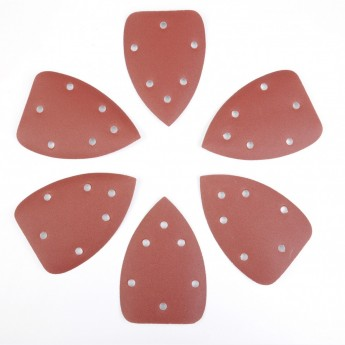 三角形手掌红砂砂纸片
