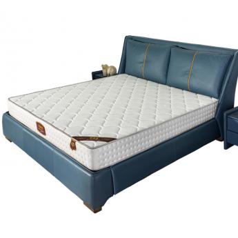 进口冰丝床垫独立圆簧加天然椰棕乳胶床垫