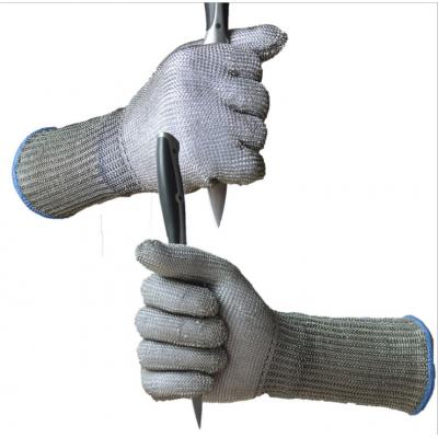 服装裁剪加工验厂用防切割钢丝铁手套
