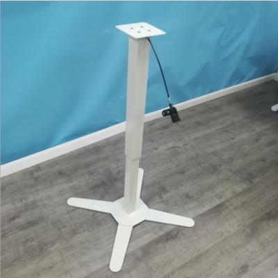 常州站立式家用簡約帶輪子移動單腳氣動折疊桌