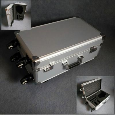 火爆出售铝合金防震仪器拉杆箱