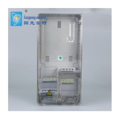 批發生產三相一戶插卡機械透明電子電表箱 PC雙層透明配電箱