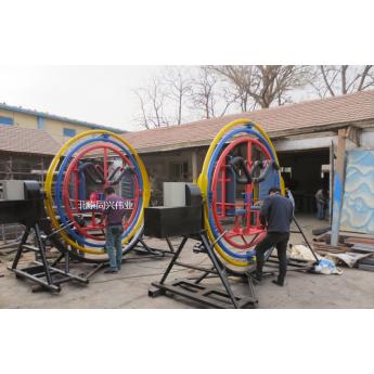 北京同興偉業熱銷三維太空環瘋狂斗牛機歡樂大火車兒童游樂設備