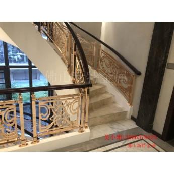 銅藝雕刻樓梯歐式樓梯欄桿實在太好用了