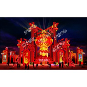 中秋國慶燈光節制作廠家 策劃設計燈光節公司