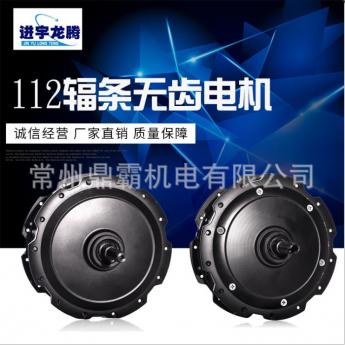 鼎霸廠家直銷112輻條無齒電機 小高速輪轂電機