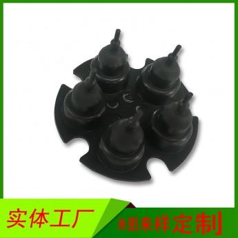 美容儀微型氣泵用橡膠件皮碗 5腔3孔活塞體食品級橡膠皮碗