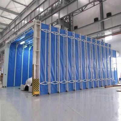 机械厂专用伸缩喷漆房 自动伸缩房 环保达标