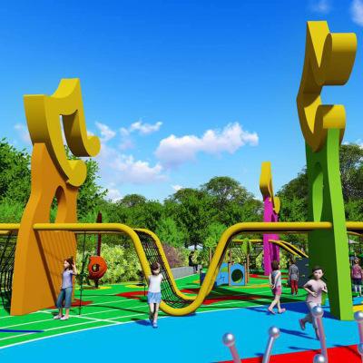 戶外兒童攀爬網游樂園拓展網麻繩異型網攀爬安全戶外兒童訓練拓展