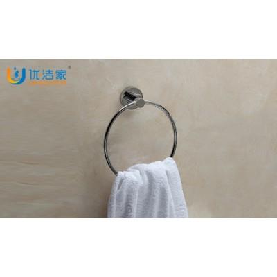 浴室全銅毛巾環 電鍍鉻色掛環 可定制