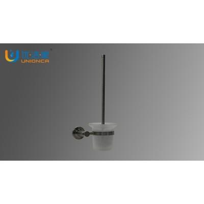 浴室不銹鋼馬桶刷套裝 可定制磨砂玻璃 堅固耐用