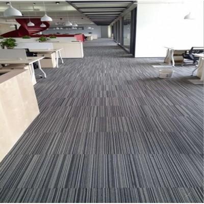 拼接方塊條紋地毯