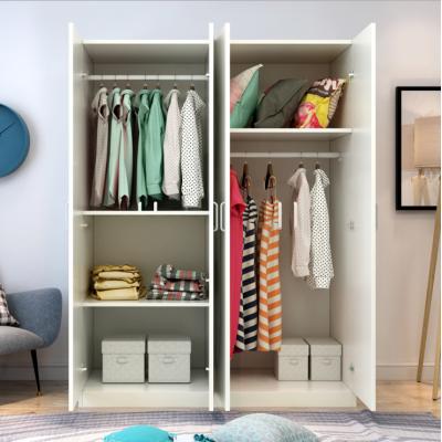 包郵簡易實木質板式經濟型衣柜組合整體