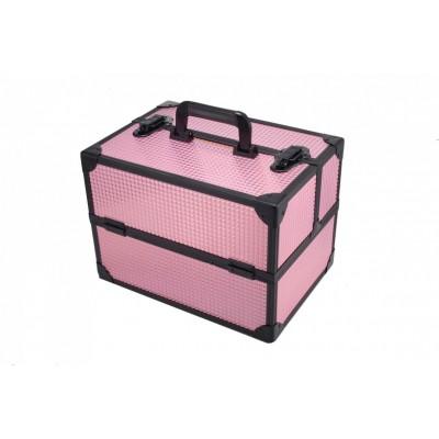 专业化妆箱跟妆师美容美甲大容量多层收纳高档便携拉杆多功能带灯