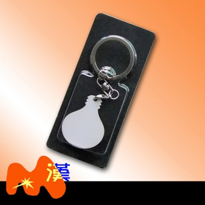 熱轉印空MDF木質鑰匙扣A302-1簡裝