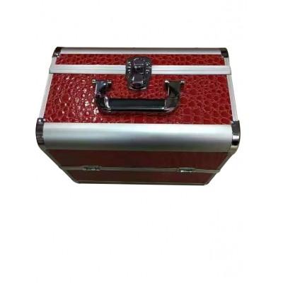專業美妝跟妝化妝箱大容量多功能三層化妝品收納箱蕾絲美甲工具箱