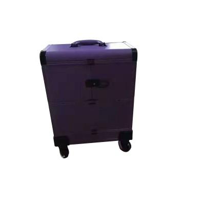 跟妆化妆箱大容量多功能化妆品收纳箱蕾丝美甲工具箱