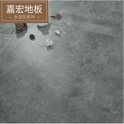 12mm強化復合水泥紋地板個性復古環?;疑镜匕? class=
