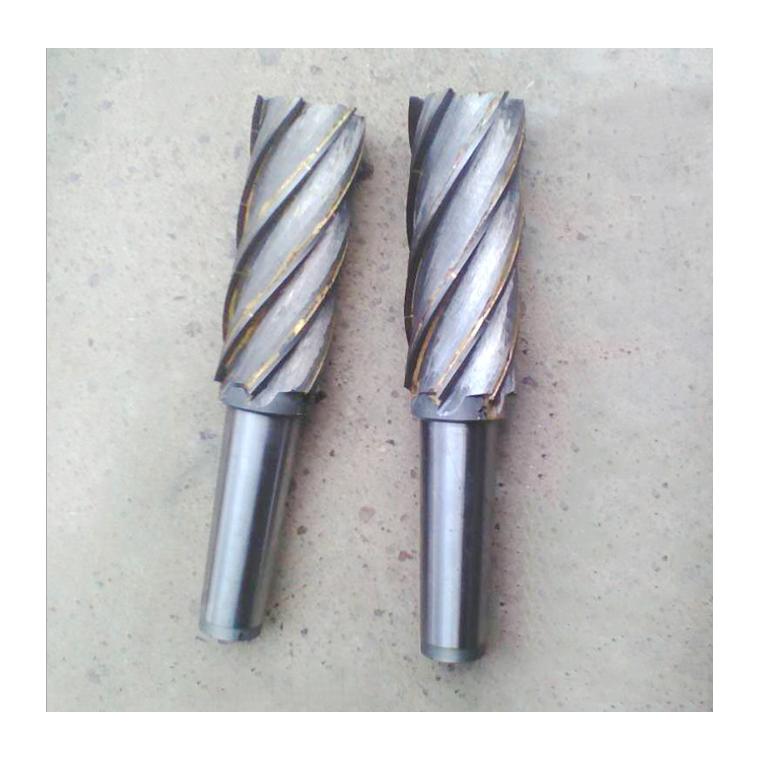 定制硬質合金焊接螺旋直柄莫氏錐柄四刃立銑刀