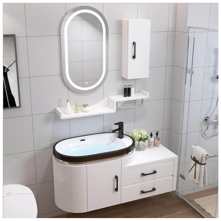 衛浴現代簡約PVC浴室柜組合洗漱臺