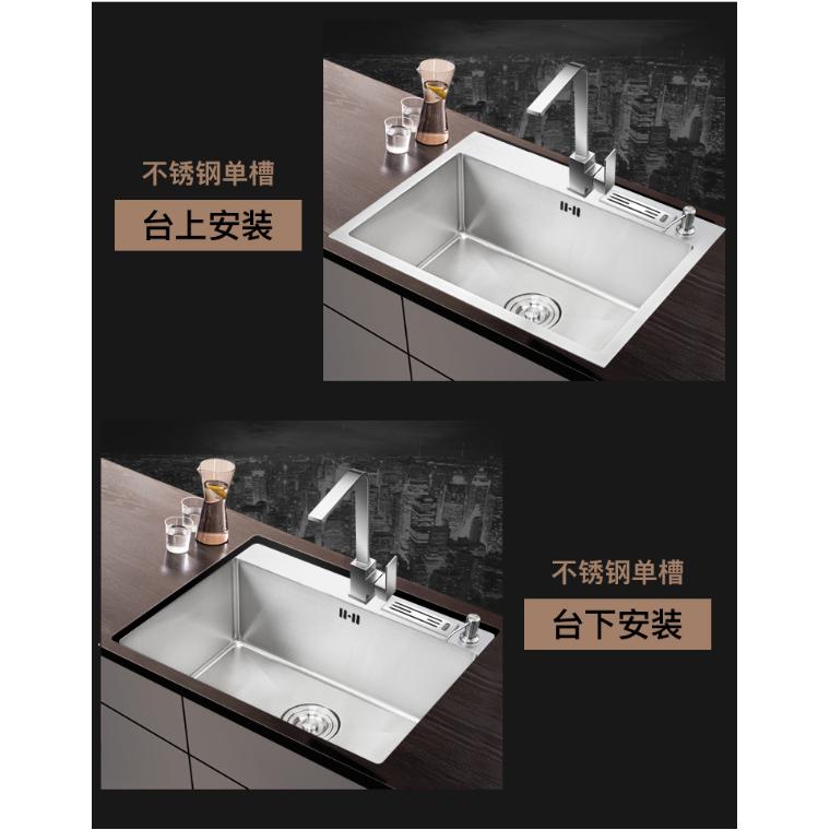廚房洗菜盆加厚手工水池洗碗池臺