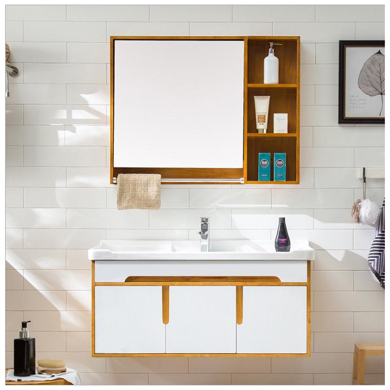 廠家直銷浴室柜橡木吊柜鏡柜簡約現代