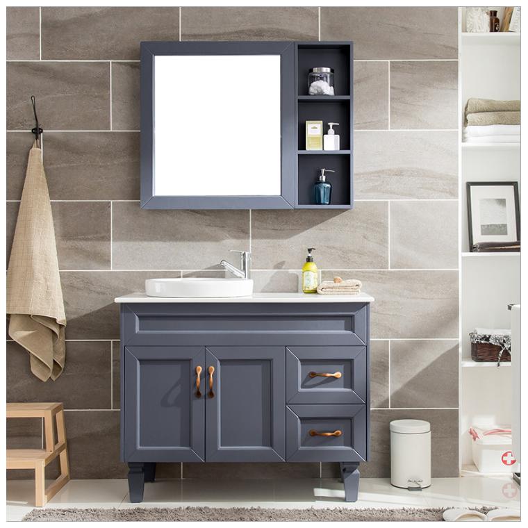 北歐新款浴室柜橡木落地式簡約衛浴柜衛生間