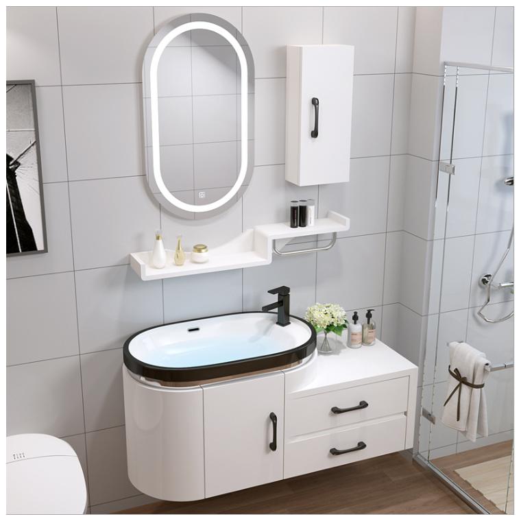 衛浴現代簡約PVC浴室柜組合洗漱臺洗臉