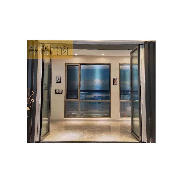 墨高門窗供應廚房透明玻璃折疊門 雙向自由折疊門鋁材