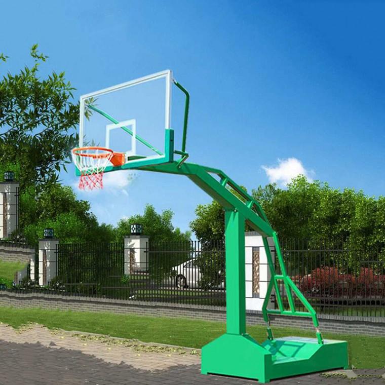 移动式凹箱单臂方管篮球架
