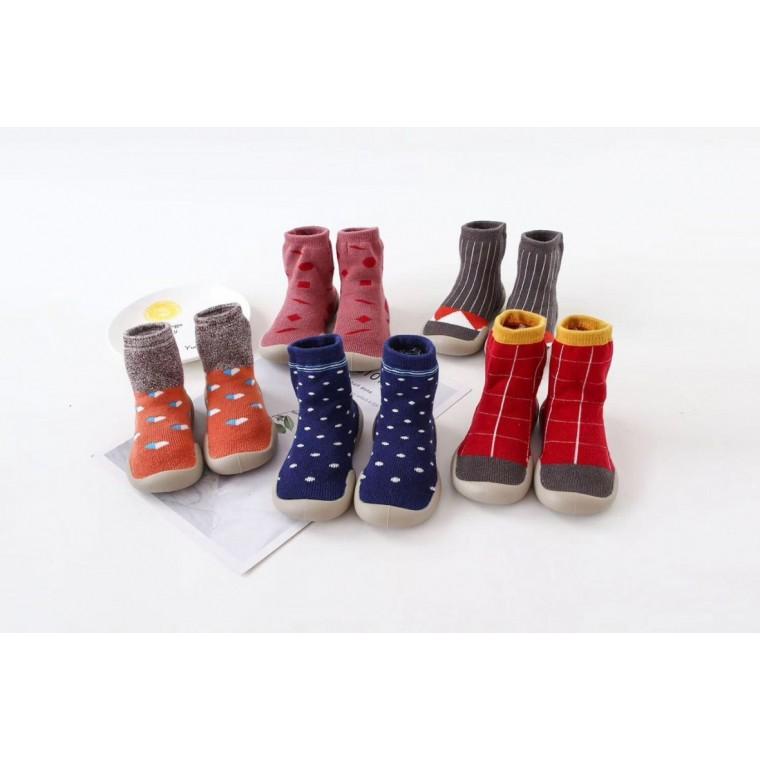 現貨特價熱銷防滑軟底透氣減震耐磨精梳棉地板鞋