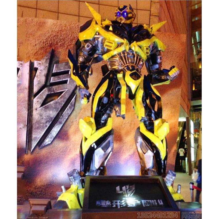 萬達大黃蜂雕塑 變形金剛擎天柱擺件定制