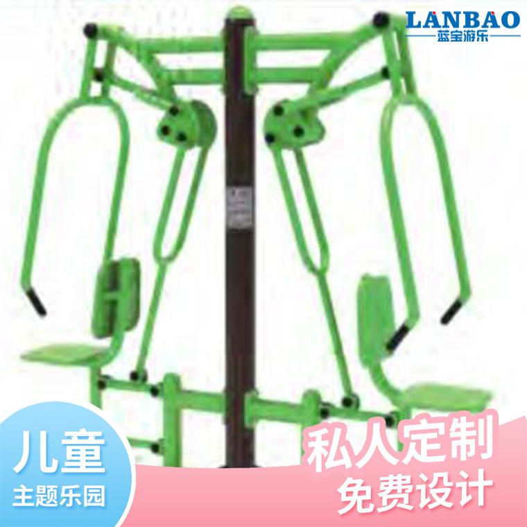 雙人坐推訓練器戶外小區公園廣場老年健身路徑運動器材批發